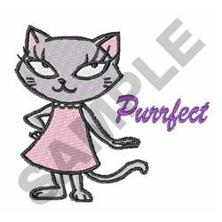 CAT PURRFECT embroidery design