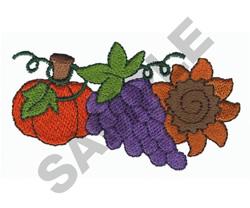 PUMPKIN, GRAPES embroidery design