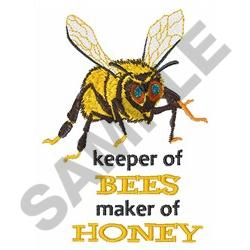 KEEPER OF BEES embroidery design
