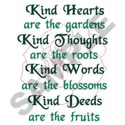 KIND HEARTS embroidery design