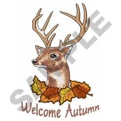 WELCOME AUTUMN embroidery design