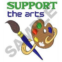 SUPPORT THE ARTS embroidery design