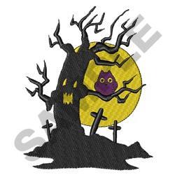 HALLOWEEN TREE embroidery design