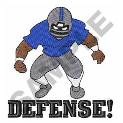 FOOTBALL DEFENSE embroidery design