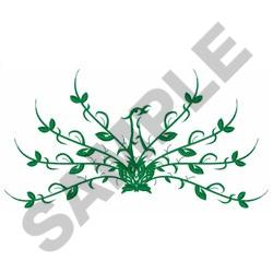 FLORAL PEACOCK LARGE embroidery design