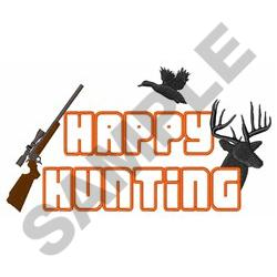 HAPPY HUNTING APPLIQUE embroidery design