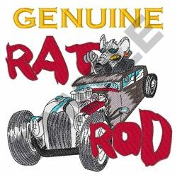 GENUINE RAT ROD embroidery design
