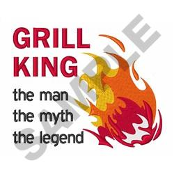 GRILL KING LEGEND embroidery design