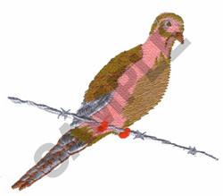 MORNING DOVE embroidery design