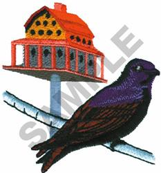 PURPLE MARTIN embroidery design
