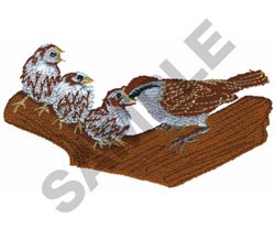 CHIRPING SPARROW embroidery design