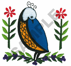 BIRDS W/FLOWRS embroidery design