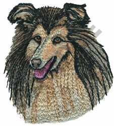 ROUGH COLLIE embroidery design