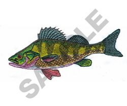 YELLOW PERCH embroidery design