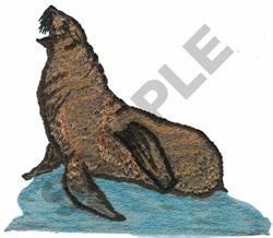 CALIFORNIA SEA LION embroidery design