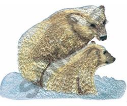 POLAR BEARS embroidery design