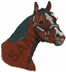 QUARTER HORSE embroidery design