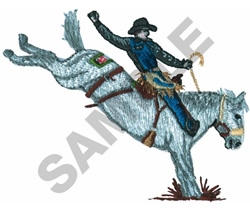 BRONCO RIDER embroidery design