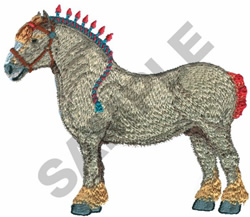 ITALIAN DRAFT HORSE embroidery design