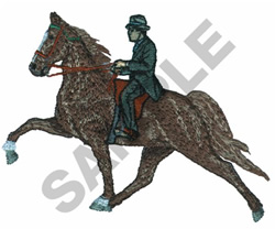TENNESSEE WALKER AND RIDER embroidery design