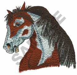 WILD MUSTANG HEAD embroidery design