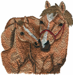 MARE WITH FOAL embroidery design
