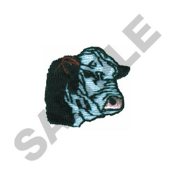POLLED HERE BULL HEAD embroidery design