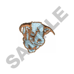 HORNED HERE BULL HEAD embroidery design