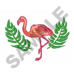 Flamingo Palms embroidery design