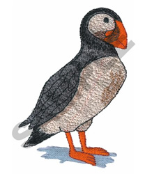 PUFFIN embroidery design