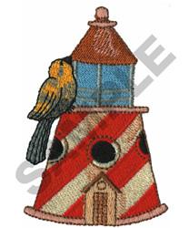 LIGHTHOUSE BIRDHOUSE embroidery design