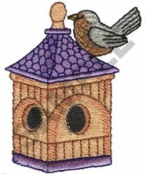LAVENDER BIRDHOUSE embroidery design