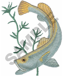 SAND SEA TROUT embroidery design