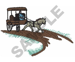 HORSE DRAWN CARRIAGE embroidery design