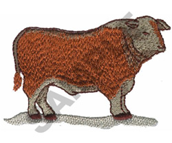 BULL embroidery design