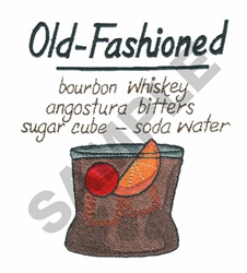 OLD FASHIONED embroidery design