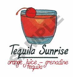 TEQUILA SUNRISE embroidery design