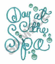 DAY AT THE SPA embroidery design