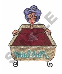 MUD BATH embroidery design