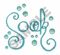 SOAK embroidery design