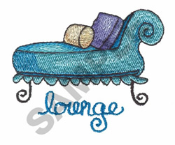 LOUNGE embroidery design
