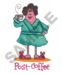 POST-COFFEE embroidery design