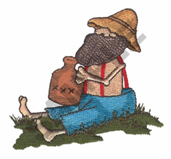 HILLBILLY WITH A JUG embroidery design