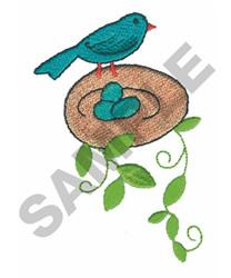 BIRD W/EGGS embroidery design