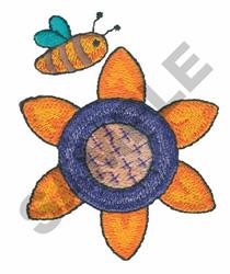 SUN FLOWER & BEE embroidery design