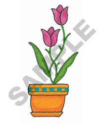 FLOWER IN POT embroidery design