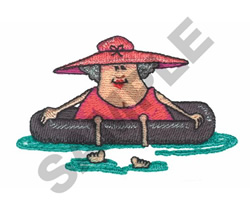 LADY ON THE FLOAT embroidery design