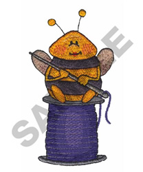 BEE ON THREAD embroidery design