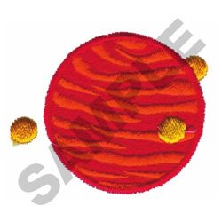 MARS AND PLANETS embroidery design