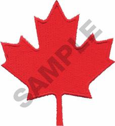 CANADIAN MAPLE LEAF embroidery design